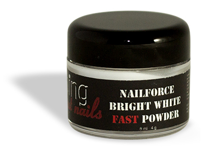 NAILFORCE acryl powder fast bright white 4g