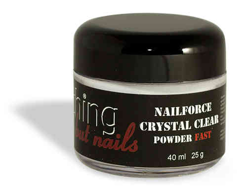 NAILFORCE acryl powder fast crystal clear 25g