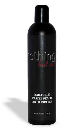 NAILFORCE acryl powder cover pastel peach nachfüllflasche 150g