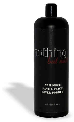 NAILFORCE acryl powder cover pastel peach nachfüllflasche 700g